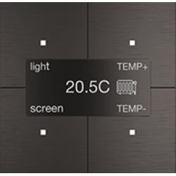 """Сенсорная панель Room-E """"Aluminium Black"""""""