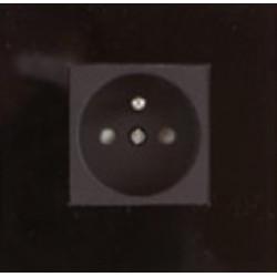 Розетка одинарная Glass black