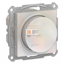 Светорегулятор поворотно-нажимной 315Вт Schneider Atlasdesign, жемчуг
