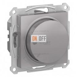 Светорегулятор поворотно-нажимной 630Вт Schneider Atlasdesign, алюминий
