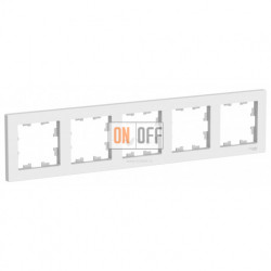 Рамка пятерная Schneider Electric Atlasdesign, белый