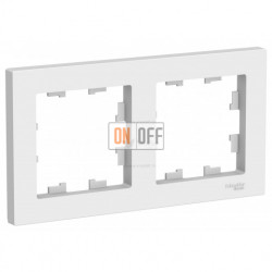 Рамка двойная Schneider Electric Atlasdesign, белый