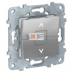 Выключатель управления для жалюзи и рольставней 6А/250 В~ Schneider Unica New, алюминий