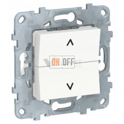 Кнопочный выключатель управления для жалюзи и рольставней 6А/250 В~ Schneider Unica New, белый
