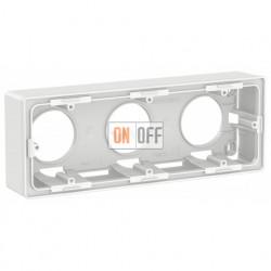 Трехместная коробка для накладного монтажа Schneider Electric Unica Studio, белый