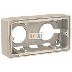 Двухместная коробка для накладного монтажа Schneider Electric Unica Studio, бежевый