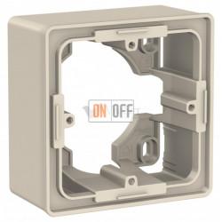 Одноместная коробка для накладного монтажа Schneider Electric Unica Studio, бежевый