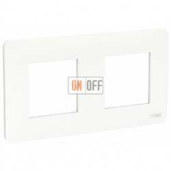 Рамка двойная Schneider Electric Unica Studio, белый