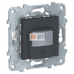 Датчик движения с выключателем 3-х проводной 10А до 1050Вт Schneider Unica New, антрацит