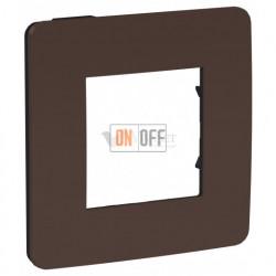 Рамка одинарная Schneider Electric Unica Studio Color, шоколад-бежевый
