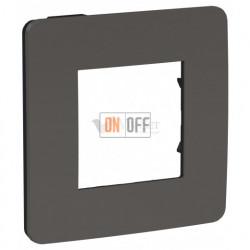 Рамка одинарная Schneider Electric Unica Studio Color, дымчато-серый-антрацит