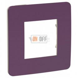 Рамка одинарная Schneider Electric Unica Studio Color, лиловый-бежевый