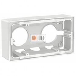 Двухместная коробка для накладного монтажа Schneider Electric Unica Studio, белый