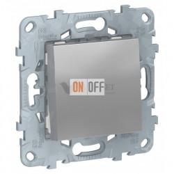Выключатель одноклавишный перекрестный (из 3-х мест) 10А/250 В~ Schneider Unica New, алюминий