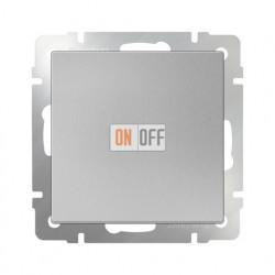Выключатель одноклавишный проходной Werkel 10A/250В (из 2-х мест), серебряный