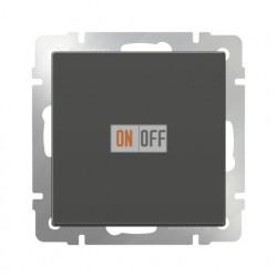 Выключатель одноклавишный проходной Werkel 10A/250В (из 2-х мест), серо-коричневый
