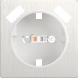 Розетка с заземлением шторками и USBх2 Werkel 16A/250В, винтовой зажим, перламутровый рифленый