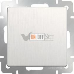 Выключатель одноклавишный проходной Werkel 10A/250В (из 2-х мест), перламутровый рифленый