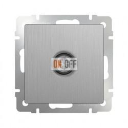 ТВ-розетка оконечная Werkel серебряный рифленый