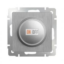 Светорегулятор поворотный Werkel до 600 Вт, серебряный рифленый