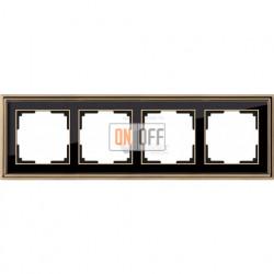 Рамка четверная Werkel Palacio золото-черный