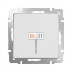 Выключатель одноклавишный с подсветкой Werkel 10A/250В белый