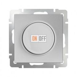 Светорегулятор поворотный Werkel до 600 Вт серебряный