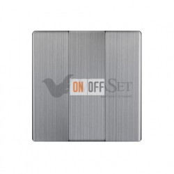 Выключатель трехклавишный Werkel 10A/250В глянцевый никель