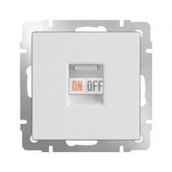 Интернет розетка одинарная Werkel 5 категории RJ-45 белый