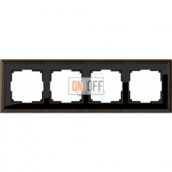 Рамка четверная Werkel Palacio бронза-черный