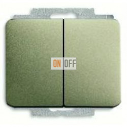 Выключатель двухклавишный, проходной (вкл/выкл с 2-х мест) 10 А / 250 В~ 1011-0-0928 - 1751-0-3082