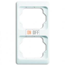 Рамка двойная для вертикального монтажа Alpha Exclusive белый глянцевый 1754-0-3054