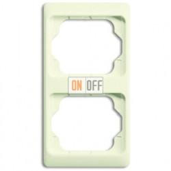 Рамка двойная для вертикального монтажа Alpha Exclusive кремовый глянцевый 1754-0-3864