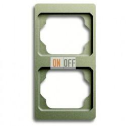 Рамка двойная для вертикального монтажа Alpha Exclusive палладий 1754-0-4117