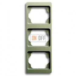 Рамка тройная для вертикального монтажа Alpha Exclusive палладий 1754-0-4119