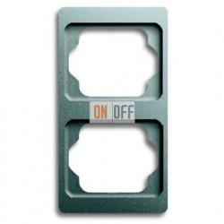 Рамка двойная для вертикального монтажа Alpha Exclusive титан 1754-0-4126