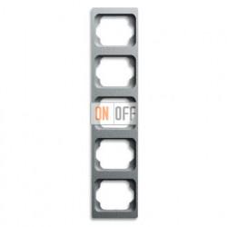 Рамка пятерная для вертикального монтажа Alpha Exclusive титан 1754-0-4132