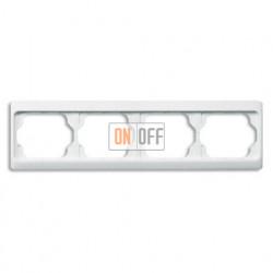 Рамка четверная для горизонтального монтажа Alpha Exclusive белый глянцевый 1754-0-4155
