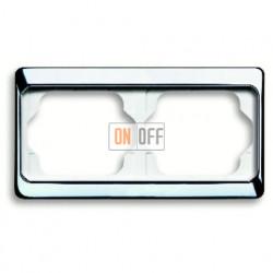 Рамка двойная для горизонтального монтажа Alpha Exclusive хром 1754-0-4160