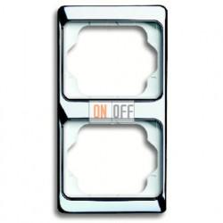 Рамка двойная для вертикального монтажа Alpha Exclusive хром 1754-0-4161