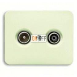 Розетка телевизионная проходная TV FM, диапазон частот от 4 до 2400 MГц 0230-0-0268 - 1710-0-2454
