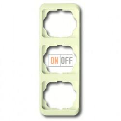 Рамка тройная для вертикального монтажа ABB Alpha Nea кремовый глянцевый 1754-0-3765