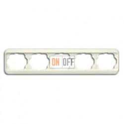 Рамка пятерная для горизонтального монтажа ABB Alpha Nea кремовый глянцевый 1754-0-3823