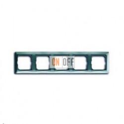 Рамка пятиместная ABB Basic 55, цвет голубой 1725-0-1525