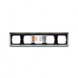 Рамка пятиместная ABB Basic 55, цвет серый 1725-0-1535