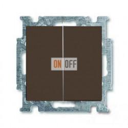 Выключатель двухклавишный ABB Basic 55, шато-черный 1012-0-2177