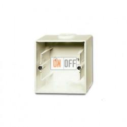 Коробка одинарная для открытого монтажа, ABB Basic 55, шале-белый 1799-0-0968
