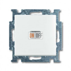 Переключатель одноклавишный с подсветкой ABB Basic 55, белый 1012-0-2143