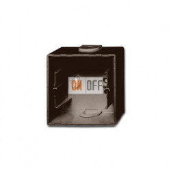 Коробка одинарная для открытого монтажа, ABB Basic 55, шато-черный 1799-0-0965