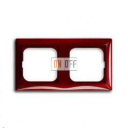 Рамка двойная ABB Basic 55, красная 1725-0-1517